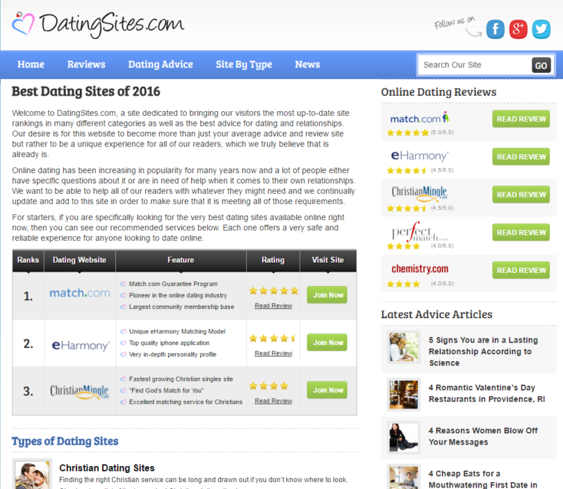 Online-dating-sites marketing